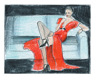 Valentino advertistement illustration