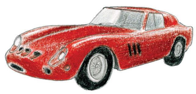 1962 Ferrari 250 GTO illustration