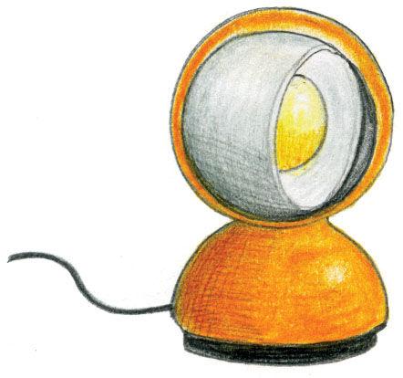 Eclisse lamp by Artemide illustration