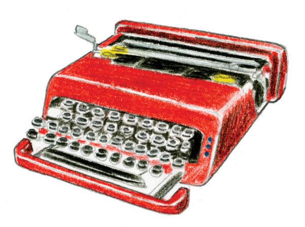 1969 Valentine typewriter by Olivetti
