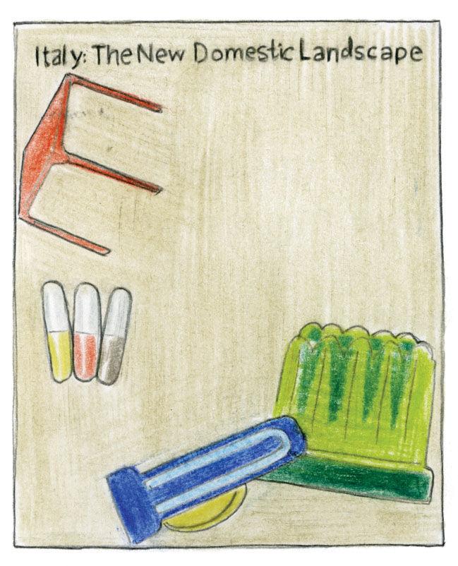 The New Domestic Landscape poster illustration