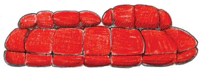 Skitsch Salone de Mobile sofa illustration