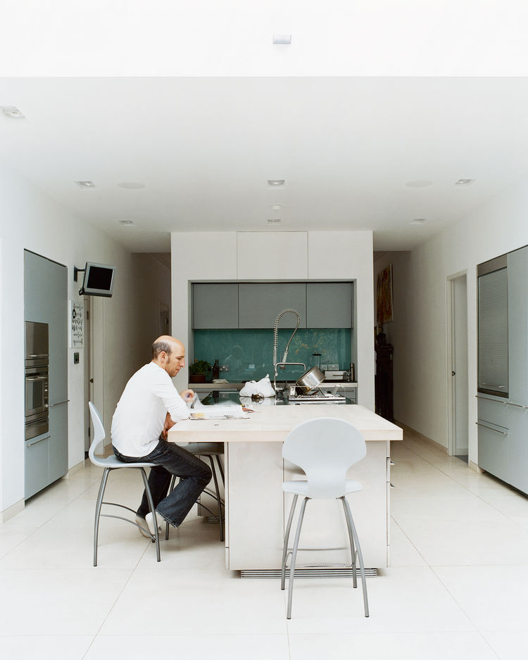 Modern white kitchen with Boffi cabinetry