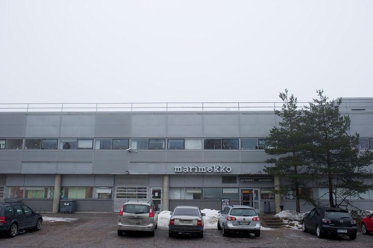 Marimekko factory exterior in Helsinki, Finland