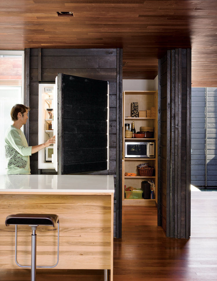 Charred cedar clad kitchen