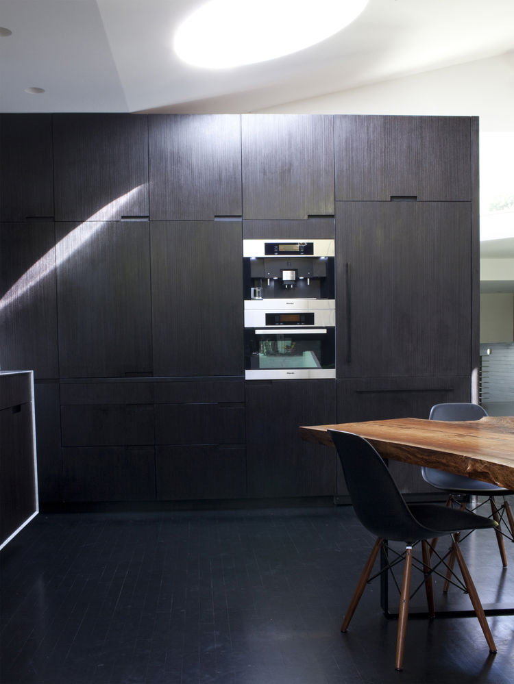 Black kitchen with Miele appliances