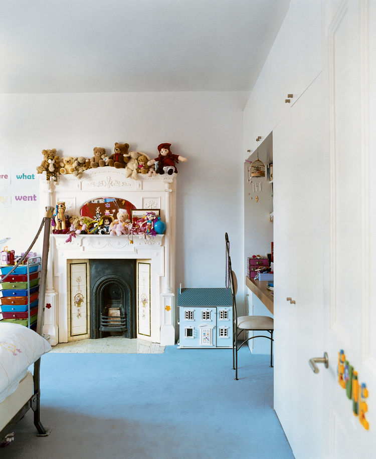 "The kids' rooms were designed to let the littlest Brenners express their own tastes. ""When designing you need to accommodate lots of functions, from piano lessons to just hanging out,"" says Phillips. ""A house should have all the elements that allow you to"