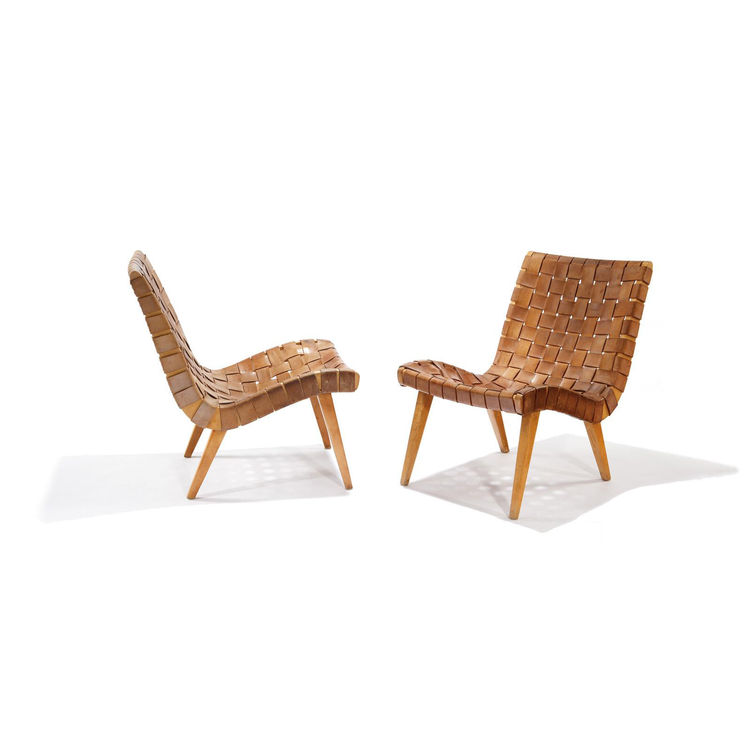 Widely known as the first chair to be designed for Knoll©, the Risom Lounge Chair  brought the natural materials and understated form of Scandinavian design to large-scale U.S. production. The streamlined maple-hardwood frame is joined with mortise-a