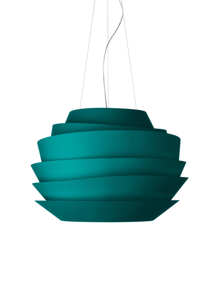 Le Soliel light by Vicente Garcia Jimenez for Foscarini. Jimenez also masterminded the kaleidoscopic installation for the company at Superstudio.