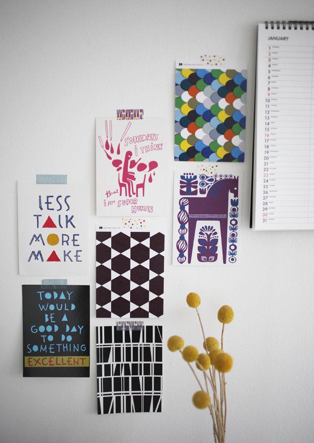 vibrant typography and printmaking