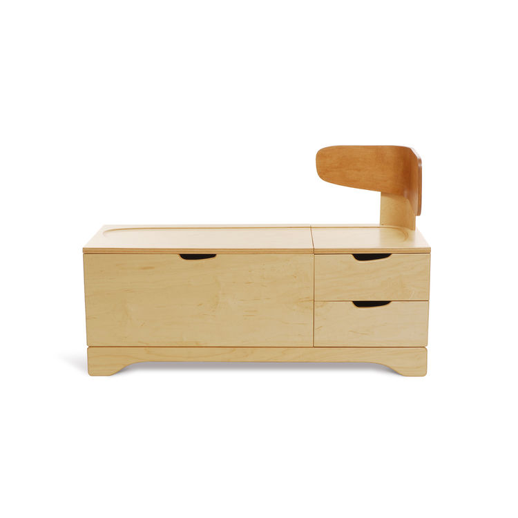 Wooden toy chest/chaise by Lisa Albin.