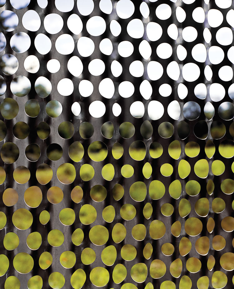 Perforated screen in Hennepin, Illinois