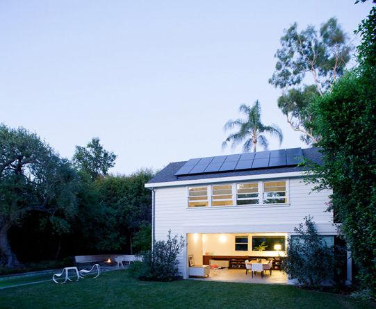 Exterior view of modern garage