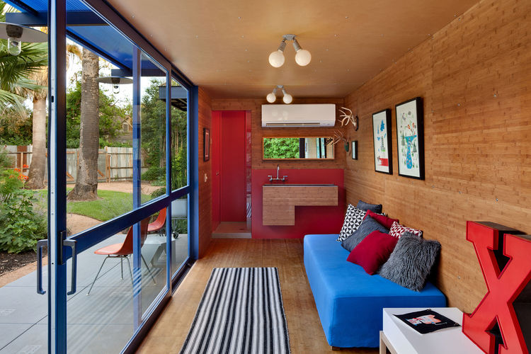 Hill container studio living room