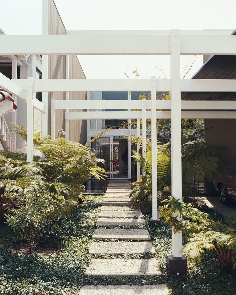 Opdahl house exterior walkway