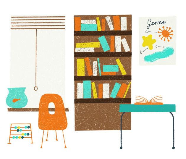 Instructor magazine illustration by Debbie Powell