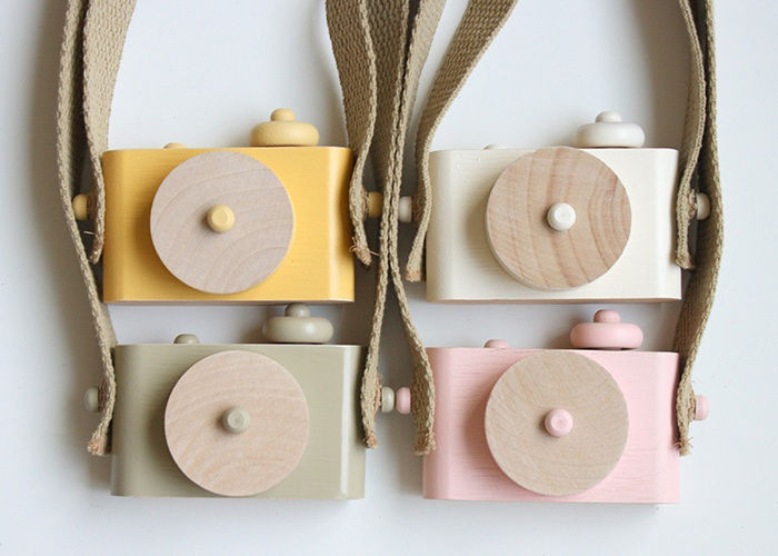 Wooden camera toys by Twig Creative