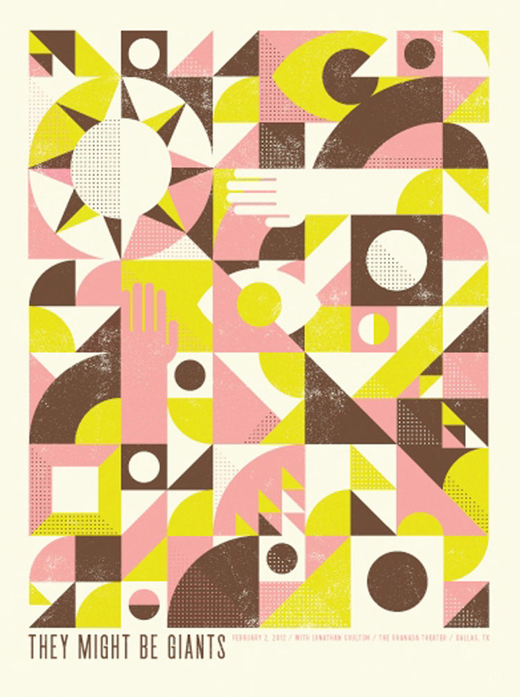 They Might Be Giants poster by Aaron Eiland