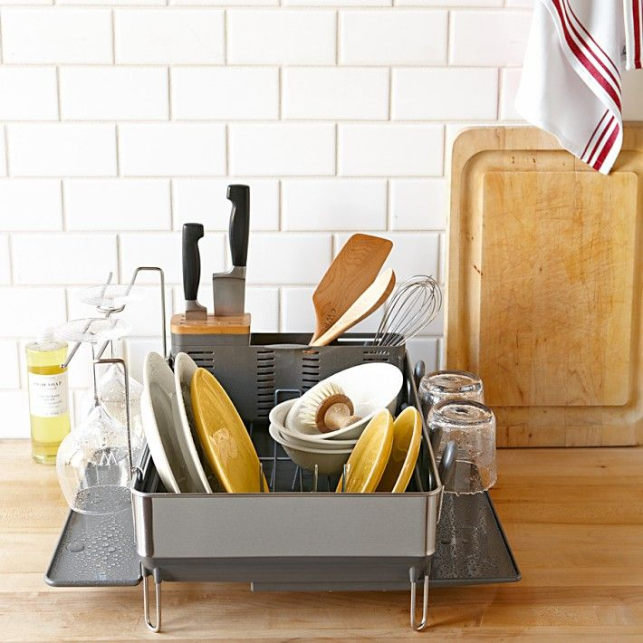 simple human steel frame dish rack