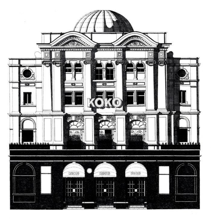 KOKO in Camden Town illustration by Thibaud Herem