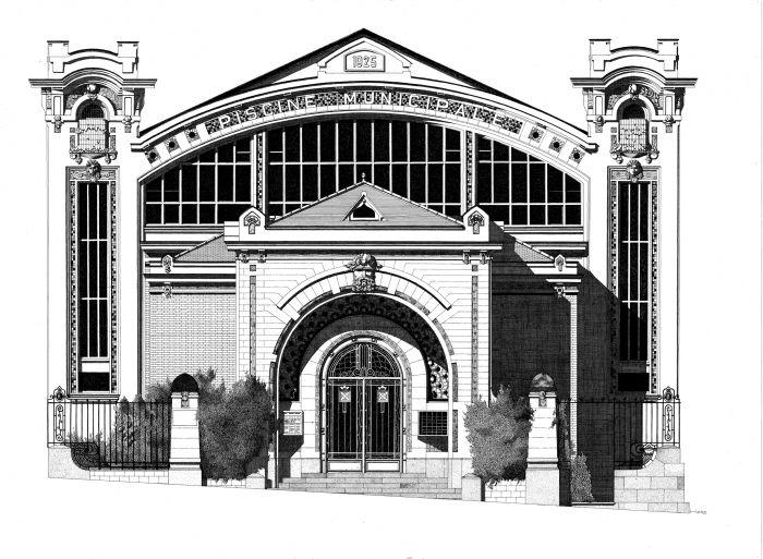 Piscine Saint-Georges à Rennes illustration by Thibaud Herem