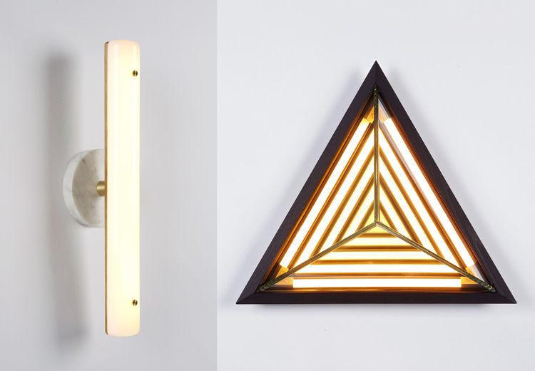 Young designers Fort Standard and Rosie Li present new lighting sconces with Roll & Hill at Salone del Mobile in Milan.