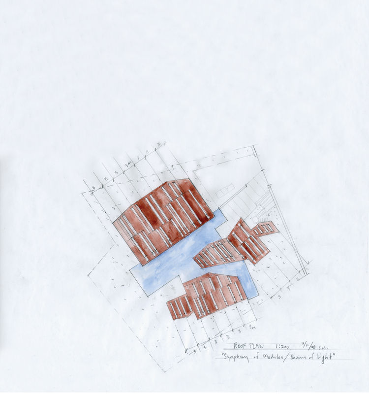 Watercolor by architect Steven Holl.