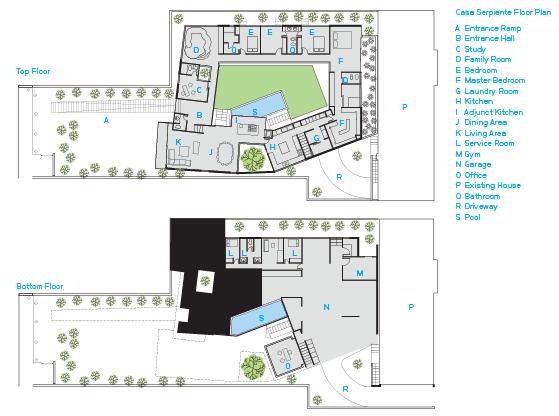 Casa serpiente floor plan