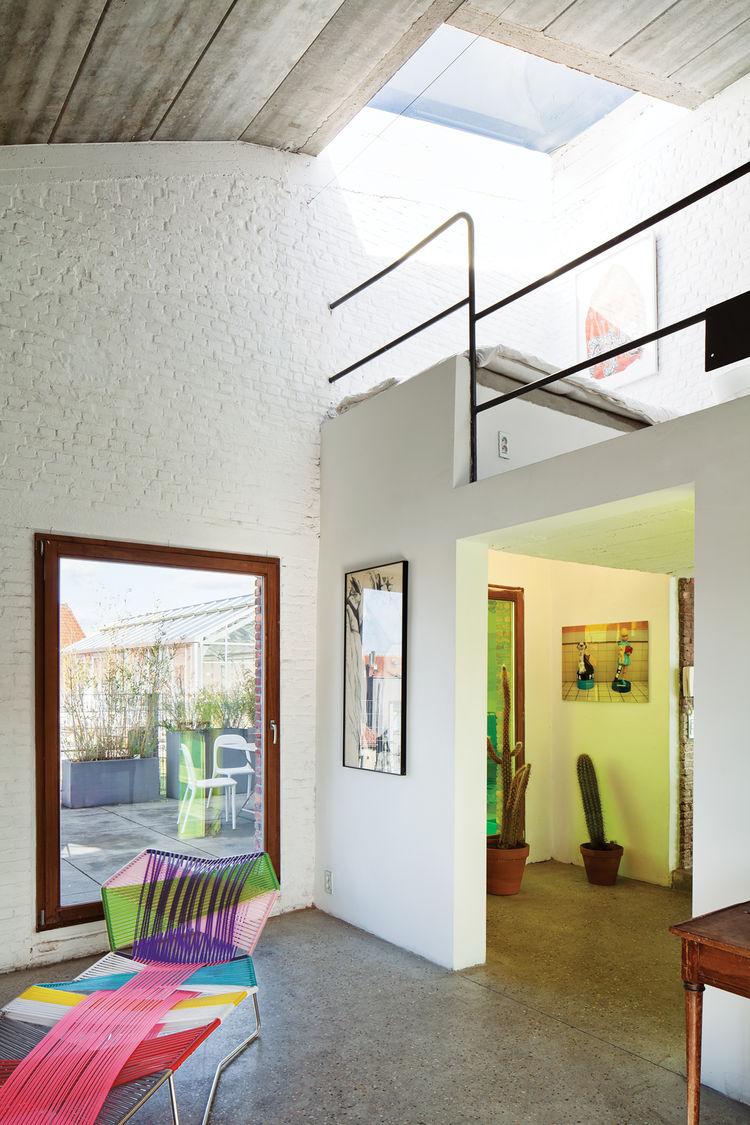 Modern Belgian loft space.