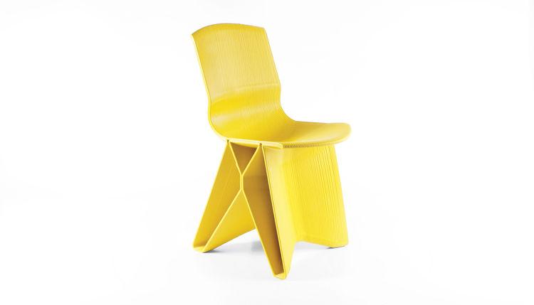 Yellow chair Dirk Vander Kooijen.