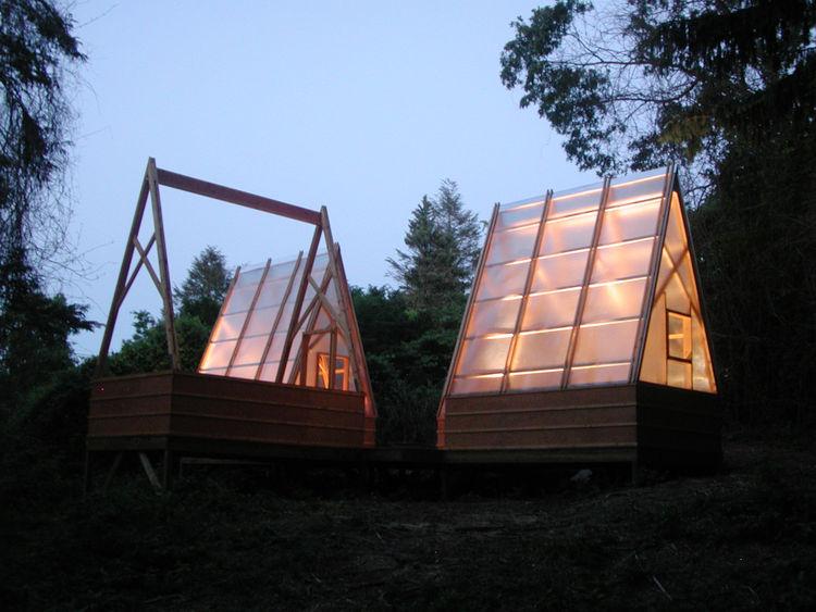 swamp hut night