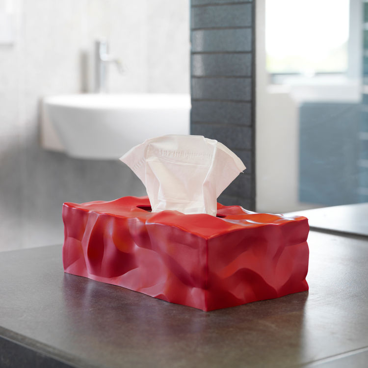 Crumpled tissue box by Essey.