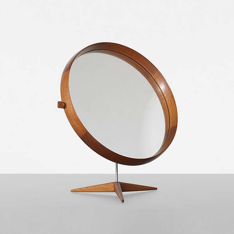 Swedish mirror designed by Uno and Östen Kristiansson in 1960, on sale in Wright's Scandinavian antique auction on May 16.