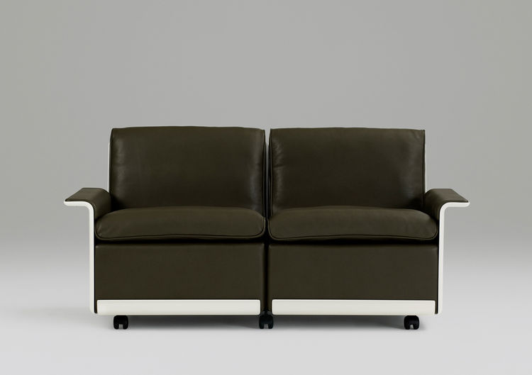 Dieter Rams 620 Chair Program for Vitsœ, 1962, is available in six colors of leather.