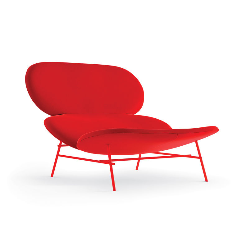 Red Kelly chair by Claesson Koivisto Rune for Tacchini.