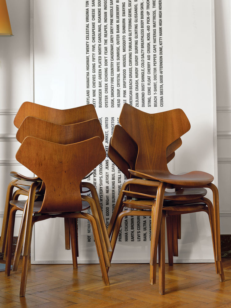 1955 Grand Prix chairs by Arne Jacobsen