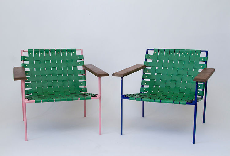 Rod and weave chairs by Eric Trine