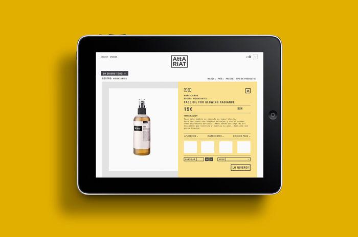 Website design for Attariat for TATABI Studio
