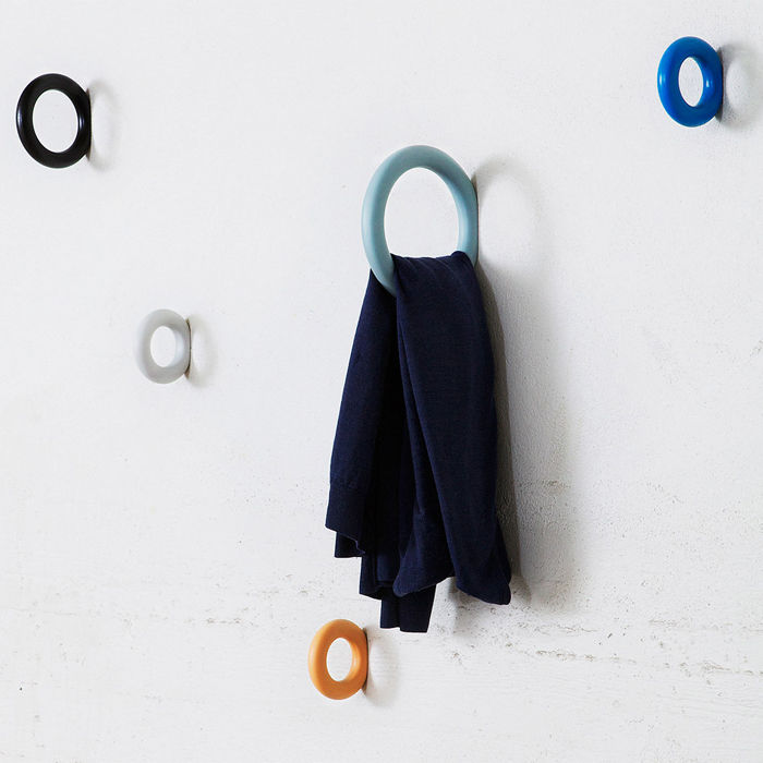 Alternative wall storage found in these hooks designed by Danish company HAY