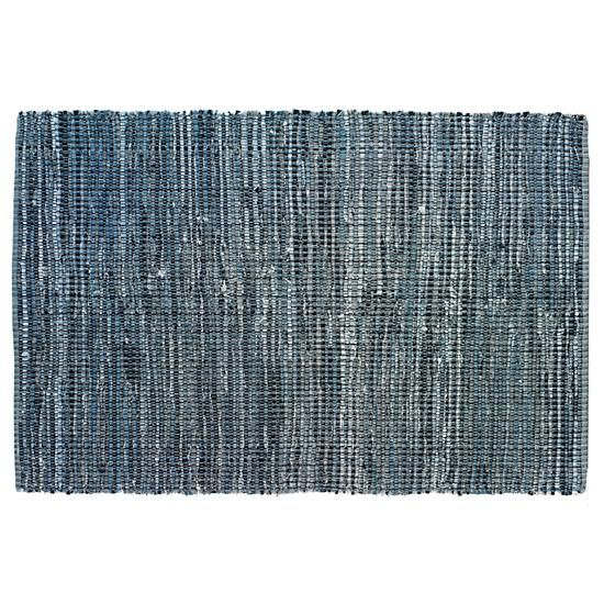 Recycled denim rug perfect for a modern baby's room from Land of Nod