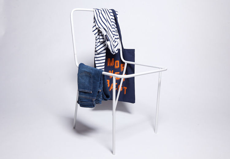 Chair meets garment rack, by Thing Industries, debuted at ICFF 2013
