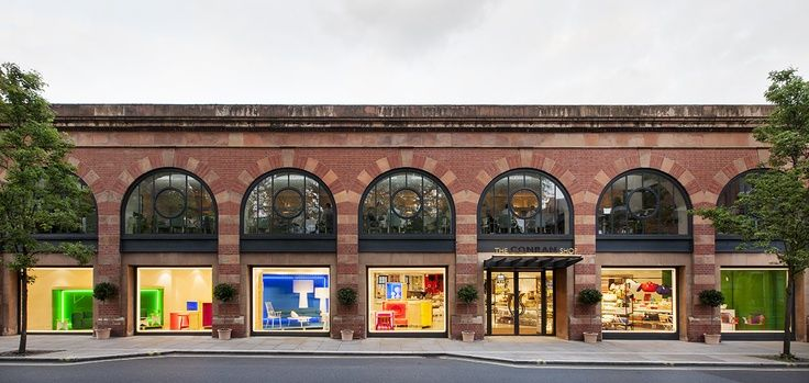 Brick facade of The Conran Shop in Marylebone, London