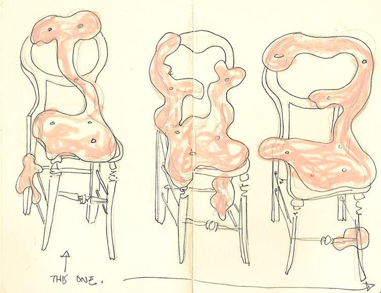 charlotte kingsnorth chair sketch