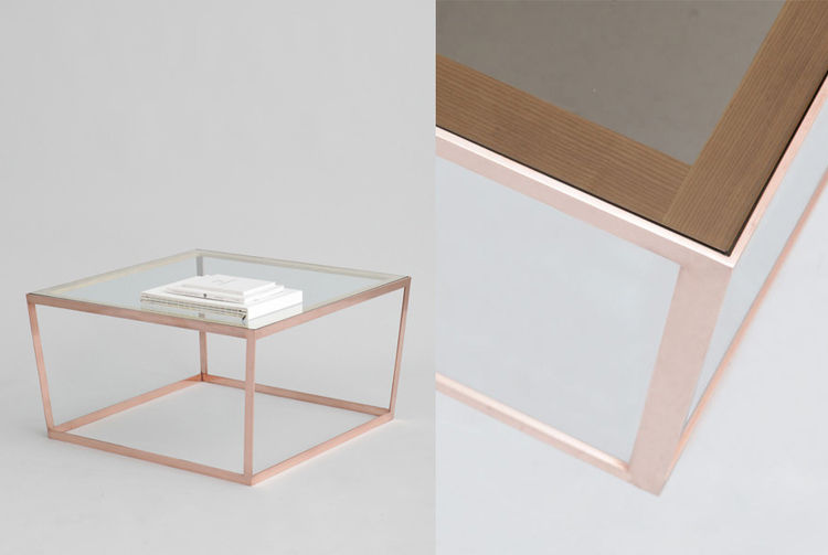 Iacoli & McAllister introduced this copper Frame coffee table at 2013 ICFF