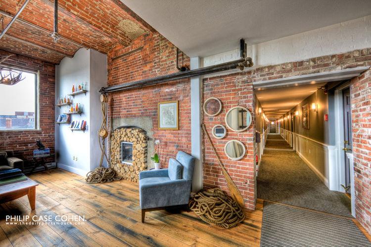 Brick hotel interior