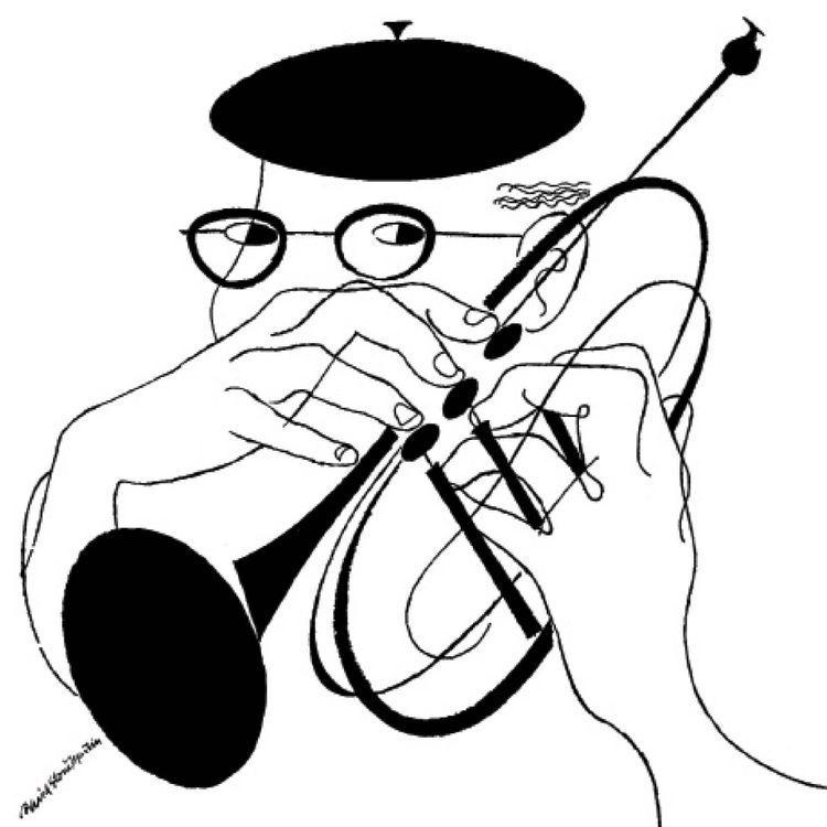 Jazz album print, Dizzy Gillespie