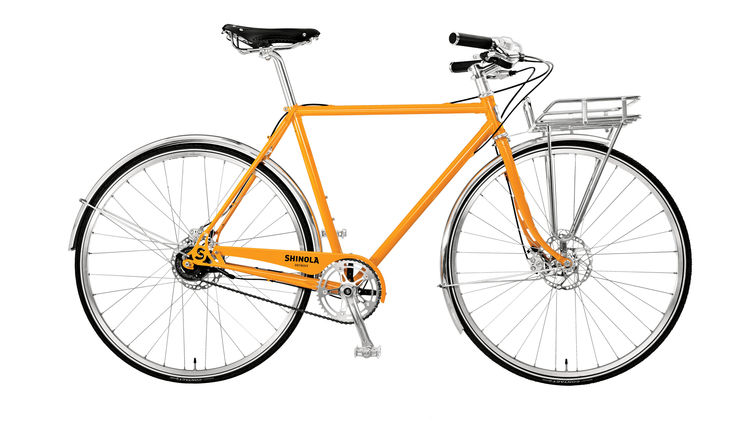 Yellow bike by Shinola