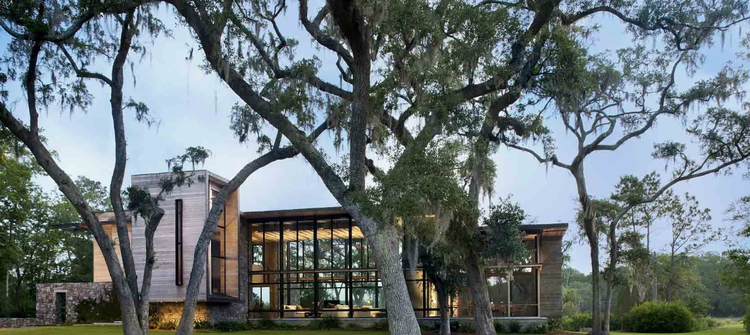 glass-walled house south carolina