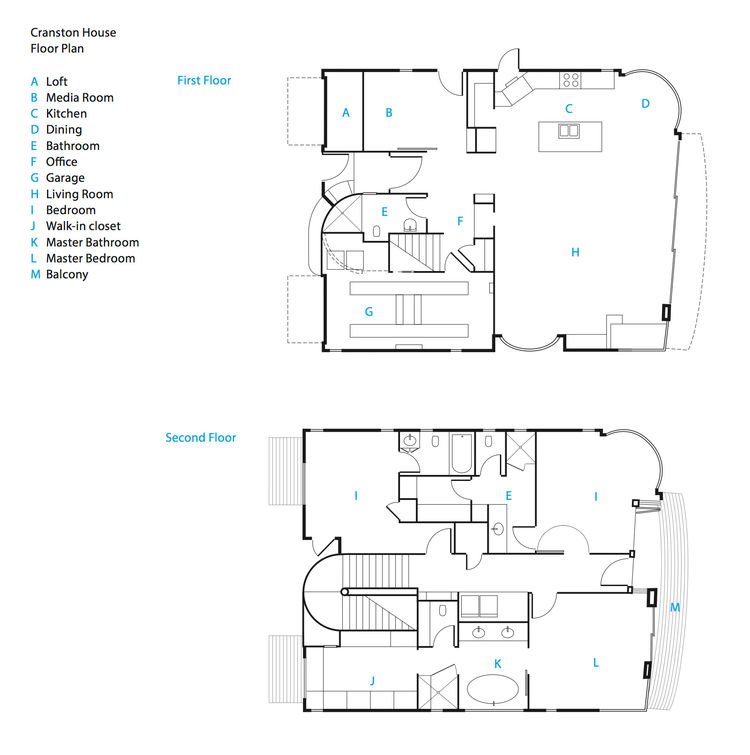 Actor Bryan Cranston's green vacation home floor plans