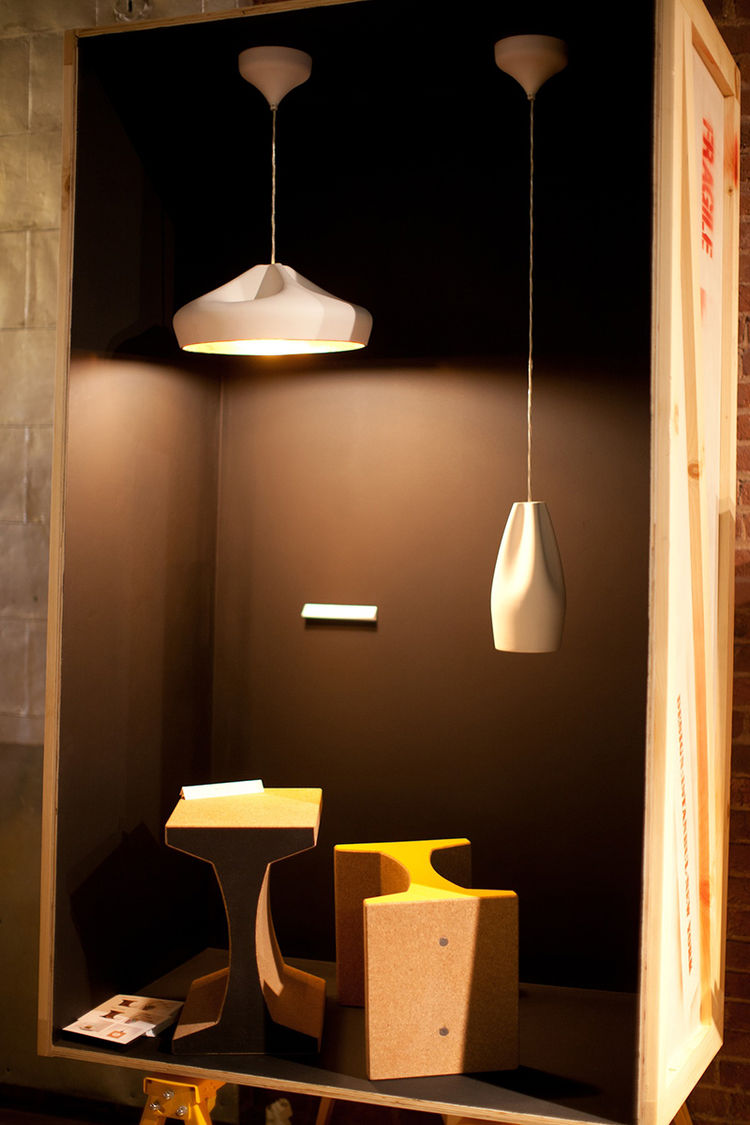 I-beam shaped stools by Değer Cengiz